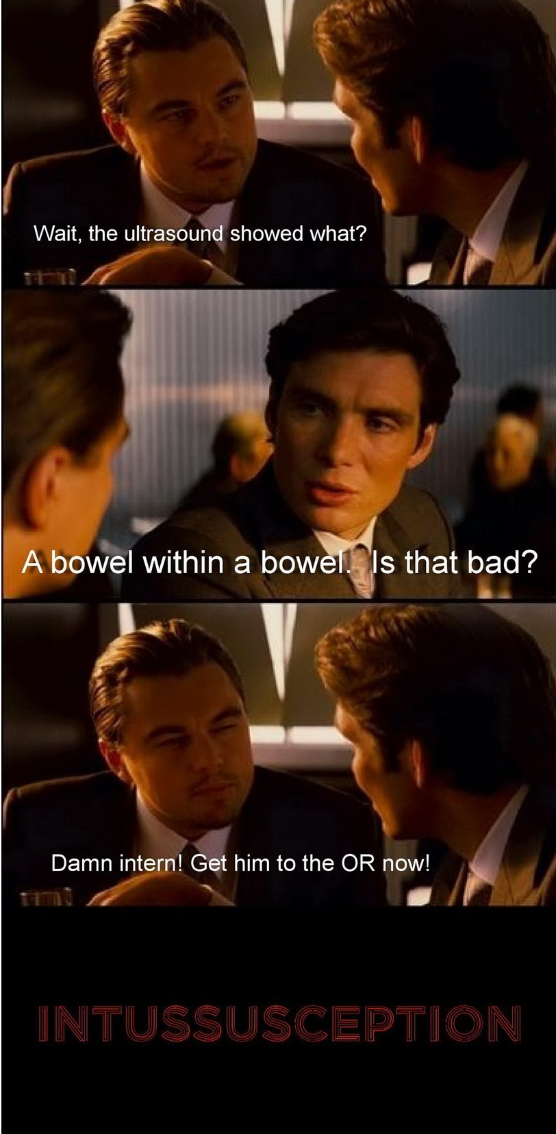 Bowel within Bowel surgical humor